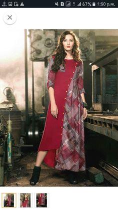 (2) Одноклассники New Kurti Designs, Kurta Designs Women, Kurti Designs Party Wear, Blouse Designs, Muslim Fashion, Indian Fashion, Stylish Dresses, Fashion Dresses, Batik Dress