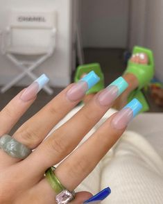 Simple Acrylic Nails, Square Acrylic Nails, Summer Acrylic Nails, Best Acrylic Nails, Stylish Nails, Trendy Nails, Nails Now, Nagellack Design, Glamour Nails