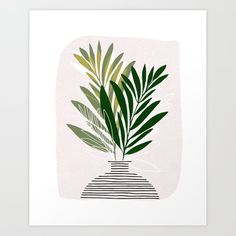 Buy Olive Branches / Contemporary Botanical Art Print by Kristian Gallagher for Modern Tropical. Plant Painting, Plant Drawing, Plant Art, Branch Art, Botanical Wall Art, Botanical Illustration, Painting Inspiration, Diy Art, Art Decor