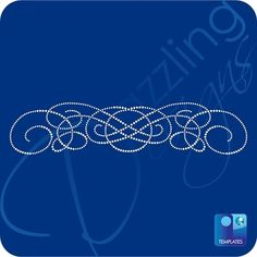 Swirl Rhinestone Template 13.5 x 3 | Abstract Templates