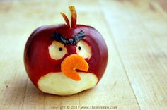angry apple :D