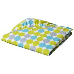 Sumersault Mix N Match Lime Cheer Fitted Crib Sheet