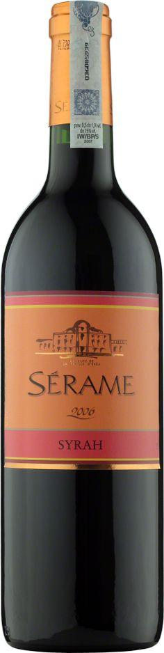 Serame Syrah Vin de Pays D'Oc Wino o intensywnej, rubinowej barwie. Zawiera wiele nut przyprawowych, wyczuwalne są także dojrzałe czerwone owoce. #Winezja #Langwedocja #Syrah #Wino Saint Chinian, Bottle, Flask, Jars