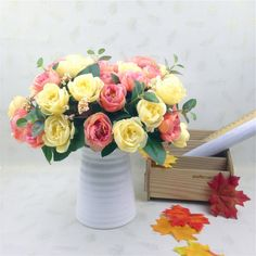Home Party Design Flowers 10 Head Decor Rose Artificial Flowers Silk Flowers Floral Latex Real Touch Rose Wedding Bouquet♦️ SMS - F A S H I O N 💢👉🏿 http://www.sms.hr/products/home-party-design-flowers-10-head-decor-rose-artificial-flowers-silk-flowers-floral-latex-real-touch-rose-wedding-bouquet/ US $1.12