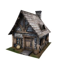 medieval building 08 cottage 3d model low-poly fbx tga unitypackage 1