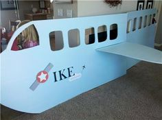 This is the plane my wife made for our son's 3rd birthday party.