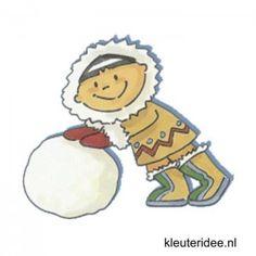 Gymles eskimo's thema Noordpool & Zuidpool voor kleuters, kleuteridee.nl