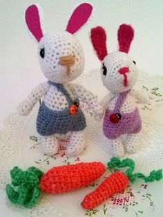 Excited to share the latest addition to my #etsy shop: Crochet bunny toy, Kawaii Bunny Amigurumi, Kawaii Easter Bunny plush, plushie, amigurumi bunny with carrot, Hand knit bunny, cute rabbit toy http://etsy.me/2D2E3HZ #toys #white #babyshower #easter #purple #