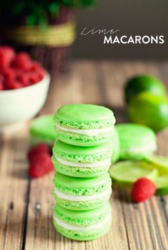 Lime Macarons by Three in Three