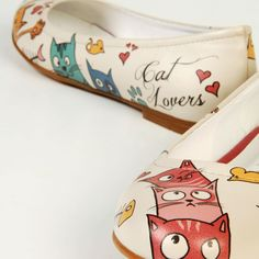 "Whitney B these have you name on them ""Cat Lovers"" Flats"