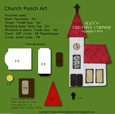 Church, Christmas, punch art