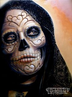 Day Of The Dead Art - El Dia De Los Muertos by Alan Padilla, Ink Addicts