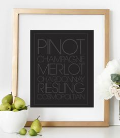 Pinot Champagne Merlot Chardonnay Riesling Cosmopoltian Bar Print  | Wall Prints | Wall Prints Art | Wall Prints Quotes | Wall Prints Ideas | Wall Prints For Home | Wall Decor | Wall Decor Living Room | Wall Decorations | Wall Decor & Signs
