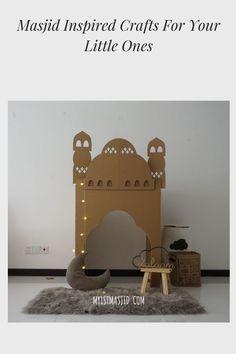 Create a Mini Eco-Mosque With Cardboard This Ramadan Eid Crafts, Ramadan Crafts, Islamic Decor, Islamic Wall Art, El Ramadan, Decoraciones Ramadan, Diy For Kids, Crafts For Kids, Carton Diy