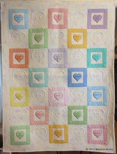 Candy Hearts, Marjorie's Quilting Bee.    Beautiful quilting.