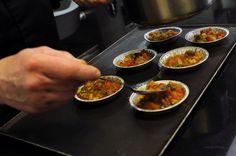 7- Mettre les légumes dans des moules à tartes individuels