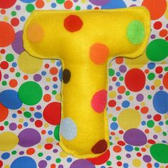 T is for Toys- Eco Plush Letters by Farnum Ink Studio, via Flickr