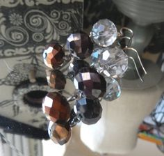 One of a Kind Sterling Silver and Crystal Pierced by bijoullery