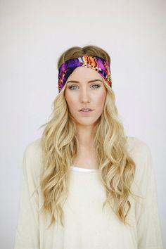 Turband Headband Stretchy Hair Band Sunset Twist Hair Bands(DOVE-SUNSET)