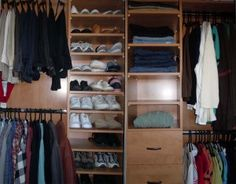 After Photo of Messy Closet