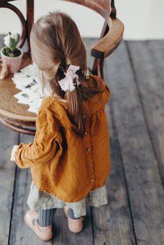 Little Girls Handmade Linen Blouse & Skirt | Lapetitealice on Etsy
