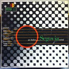 An Andres Segovia Recital,label:Decca DL 9633 (1952), Design: Erik Nitsche.
