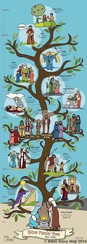 """Bible Family Tree and Timeline for Kids 14"""" x 39"""""""