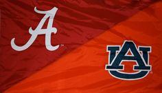 Alabama and Auburn House Divided Flags, University Of Alabama, Auburn, Hand Sewing, Divider, Ideas, Sewing By Hand, Thoughts, Auburn Brown