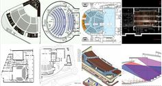 Theater design developed from the open-air amphitheaters of the Greeks and Romans to the incredible array of forms we see today. Theater Architecture, Stadium Architecture, Landscape Architecture Drawing, Architecture Graphics, Architecture Plan, Theater Plan, Open Air Theater, Home Design Plans, Plan Design