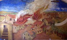 Murale in terra e paglia -  colori naturali