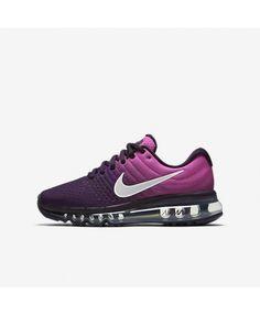watch b6652 a5ef2 Chaussure Nike Air Max 2017 Femme Violet dynastie Rose feu Crème de pêche Blanc  sommet