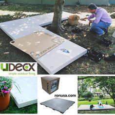 The UDECX Patio Deck is the perfect Easy DIY installation for Tiny Houses! #tinyhouse #tinyhousemovement #tinyhousenation #tinyhouseonwheels #tinyhouseliving