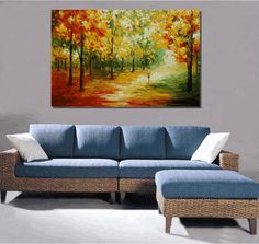 Abstract Painting, Landscape Painting, Original Wall Art, Original Painting, Canvas Painting, Large Painting, Large Art, Autumn Painting