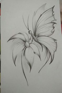 Easy Flower Pencil Drawings For InspirationYou can find Pencil drawing tutorials and more on our website.Easy Flower Pencil Drawings For Inspiration Easy Pencil Drawings, Pencil Drawings Of Flowers, Flower Art Drawing, Pencil Drawing Tutorials, Pencil Shading, Flower Sketches, Drawing Sketches, Drawing Faces, Drawing Ideas