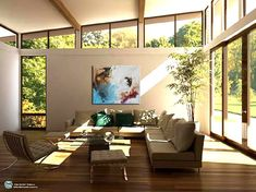 Looking for Home Interior Design ? Here are some images of Home Interior Design. Home Interior Design Windows may be one of the most cent. Mid Century Modern Living Room, Mid Century House, Modern House Design, Modern Interior Design, Contemporary Interior, Contemporary Garden Rooms, Traditional Interior, Contemporary Design, Interior Design Living Room