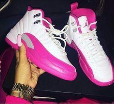 Jordan 12s pink/white
