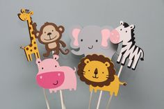 Jungle Animals Centerpieces by CraftingCrew on Etsy, $10.50