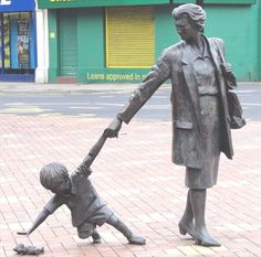 Grandmother With Child - Blackburn, UK - Figurative Public Sculpture on Waymarking.com