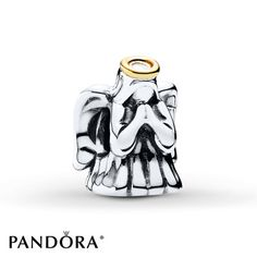 Divine Angel | Embodying the charisma of divine angels, this guardian angel charm from the PANDORA 2015 Winter collection comes complete with a 14K yellow gold halo. Give this protective charm to a loved one as it is sure to be treasured all year round. Style # 791770.