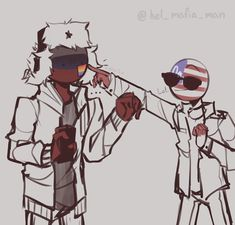 Country humans (on hold for a bit) - Russia x america Pictures Of Flags, Usa Pictures, Cartoon As Anime, All Anime, Anime Art, History Memes, Country Art, Cool Countries, Hetalia
