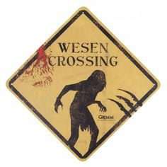 Grimm Wesen Crossing Tin Sign