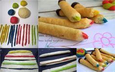 Edible pencils Book Festival, Candy Cookies, Edible Cake, Pasta, Baking, Ethnic Recipes, Cupcake, Classroom, Tutorials