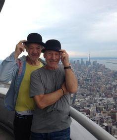 Sir Patrick Stewart e Sir Ian Mckellen a New York 02