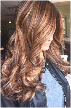 Brown Hair With Caramel Highlights, Brown Blonde Hair, Hair Color Highlights, Light Brown Hair, Dark Brown, Blonde Ombre, Dark Hair, Blonde Fall Hair Color, Carmel Hair Color
