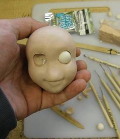 nice clay face tute : Also EXCELLENT Tutorial for making simple joints for dolls or marionettes!