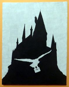 Hogwarts & Hedwig Custom Painting on Etsy, $30.00 CAD