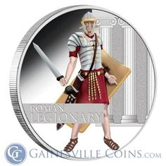 2010 Great Warrior Series: Roman Legionary 1 oz Silver Proof Coins by Perth Mint