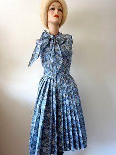 <3 Vintage 1950s Dress / Shirtwaist Sundress