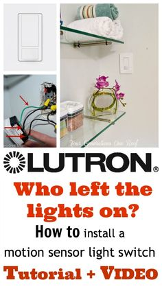 How to install a motion sensor light switch {step by step tutorial} + VIDEO. Easy and quick! #sp @Four Generations One Roof