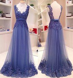 Illusion Neck A-line/Princess Sweep Train Floor Length Sheer Back Evening Dress